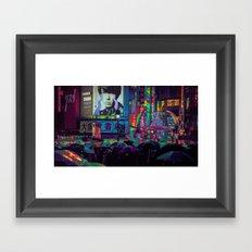 SHIBUYA NIGHTS / 渋谷 / Neon Noir Framed Art Print