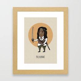 Michonne Framed Art Print
