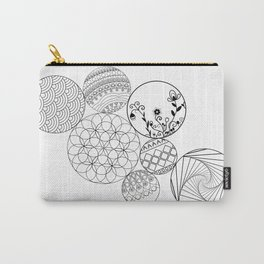 Mandalas, circles and flowers Carry-All Pouch