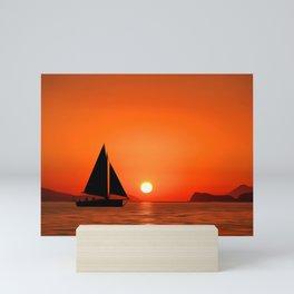 We Set Sail At Dawn   Oil Painting Mini Art Print