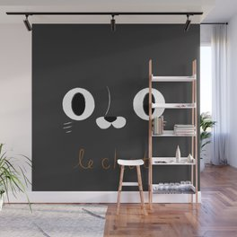 Le Chat (Black) Wall Mural