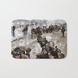 D Day Landings, WWII Bath Mat