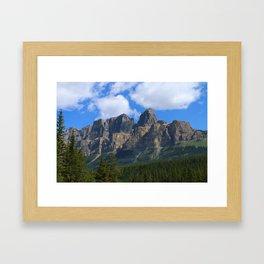 Castle Mountain Framed Art Print