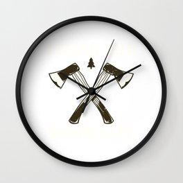 Funny Living Wood Life T Shirt Wall Clock