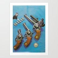 KIDS WITH GUNS Art Print