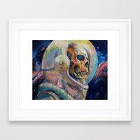 astronaut Framed Art Prints featuring Astronaut by Michael Creese