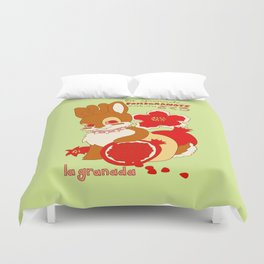 Jackalope and Pomegranate Duvet Cover