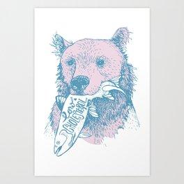 Low Cholesterol Bear Art Print