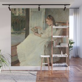 The Artist's Sister at a Window by Berthe Morisot Wall Mural