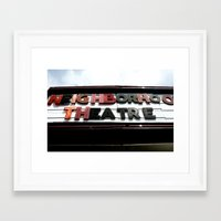 theatre Framed Art Prints featuring Theatre by Caitlin Victoria Parker