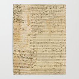 Classical music notations Poster