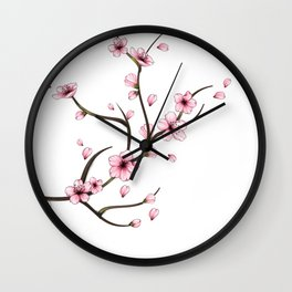 Cherry Blossom branch Wall Clock