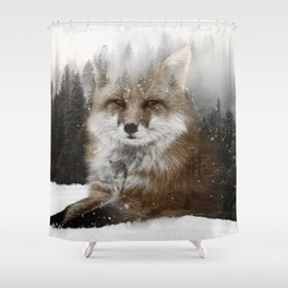 Fox Stare Shower Curtain
