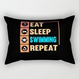 Swimmer Swimming Swim Water Sport Sea Pool Rectangular Pillow
