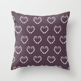HEART BONES Throw Pillow