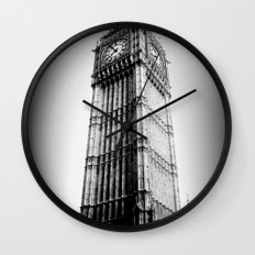 Ben looms in black and white, too. Wall Clock