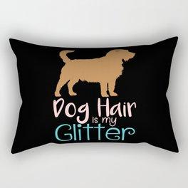 DOGS: Dog Hair Is My Glitter Rectangular Pillow