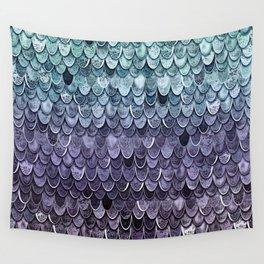 MAGIC MERMAID - MYSTIC TEAL-PURPLE Wall Tapestry