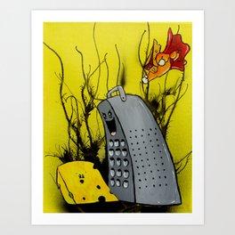 Super Cheese Art Print