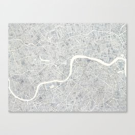 City Map London watercolor map Canvas Print