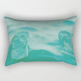 Thongs in the sand photo Rectangular Pillow
