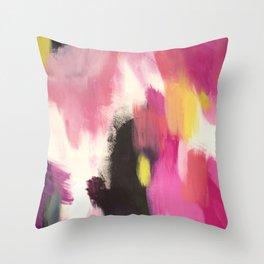 Acrylic Abstract Throw Pillow