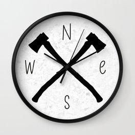 compass & axes Wall Clock