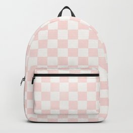 Blush Pink Coral Checkers Backpack