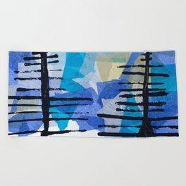 Fir Trees Beach Towel
