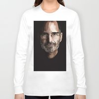 steve jobs Long Sleeve T-shirts featuring Steve Jobs by Misha Libertee