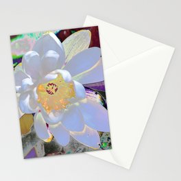 WATER LILLY WHITE Stationery Cards