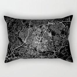 Austin Black Map Rectangular Pillow