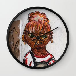 a is for apple. Wall Clock