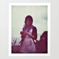oana befort Art Prints featuring Oana Portrait by Peter Dickinson