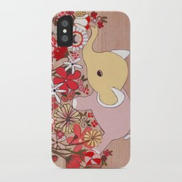 Elephant in the flowers iPhone Case