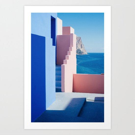 Colour architecture Art Print