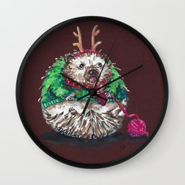 Holiday Sweater Crochet Critter Wall Clock