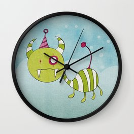 Party-Animal in Bubbles Wall Clock