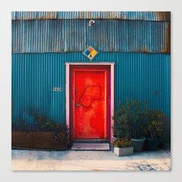 Red Door Downtown Canvas Print