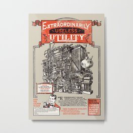Extraordinarily Useless Utility Metal Print