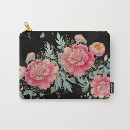 Gipsy paeonia in black Carry-All Pouch