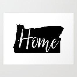 Oregon-Home Art Print