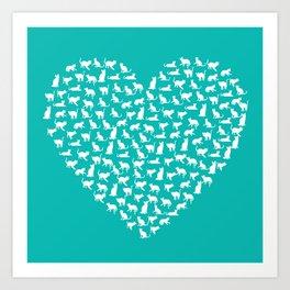 I Heart Cats Art Print