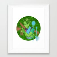 monster high Framed Art Prints featuring Porter Geiss Monster High  by Kawaii-Bells
