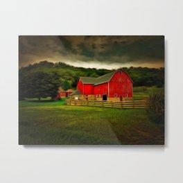 Painted Barn Metal Print