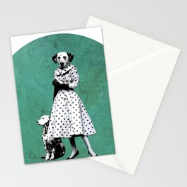 Two dalmatians - humor Stationery Cards