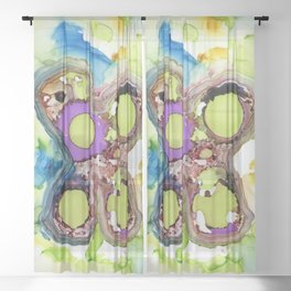 Melted Butterfly Sheer Curtain