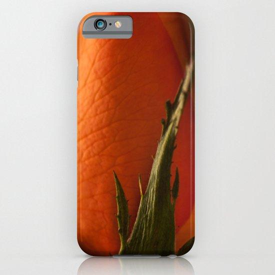 Orange Rose bud iPhone & iPod Case