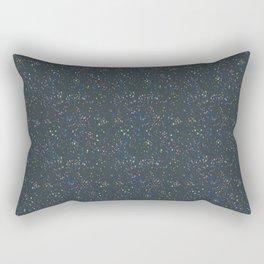 Terrazzo - Vintage Navy Blue Rectangular Pillow