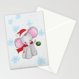 Christmas elephant Stationery Cards